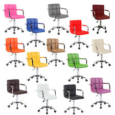 Faux Leather Swivel Office Computer Desk Wheels Chair Studio Salon Barber Stool