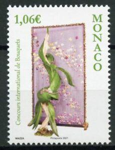 Monaco Flowers Stamps 2021 MNH International Bouquet Competition Nature 1v Set
