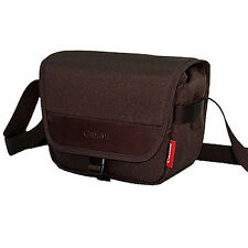 Canon DSLR SLR Camera Mini Small Shoulder Bag - Dark Brown i