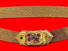 Fine 18-19 C. Arabic/Persian/Indian Princess Gilt Silver & Rubies Belt (sword)