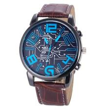 Fashion Luxury Men's Leather Band Analog Sports Watch Quartz Wrist Watch Cheap