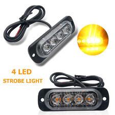 12V 2x 4 LED amber emergenza allarme strobo lampeggiante luce per AutoCamion