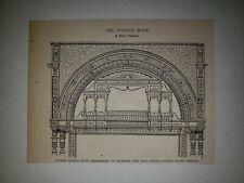 Madison Square Theater New York Orchestra 1879 Sm Sketch Print Rare!