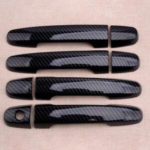 Carbon Fiber ABS Door Handle Cover Trim fit for Toyota Camry RAV4 Prius Matrix