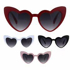 Womens Plastic Cat Eye Heart Shape Hippie Party Shade Sunglasses