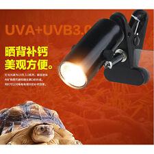 QW Reptile Lizard Spider Tortoise Ceramic Heat UV UVB Lamp Light Holder + Lamp