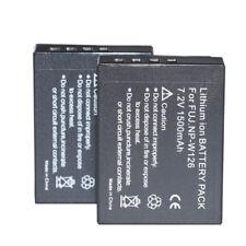 2Pcs NP-W126 NP-W126S Battery For Fujifilm Fuji X-T20 X100F  X-T100