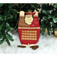 Kingfisher Plush Hanging Santa Father Christmas Xmas Advent Calender