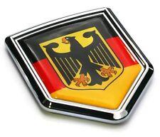 German Decal Germany Flag Car Chrome Emblem Sticker