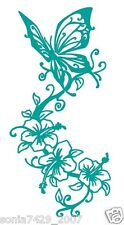 Butterfly Turquoise Vinyl Graphic Decal Car Window Sticker Funny