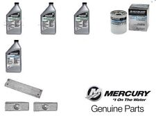 replacement kit engine outboard mercury f40/60 efi 4lt oil + filter + anodes