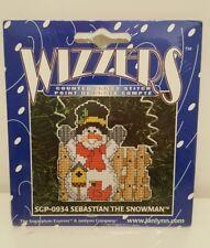 Janlynn Wizzers Counted Cross Stitch Kit Sebastian Snowman #SGP-0934 Christmas