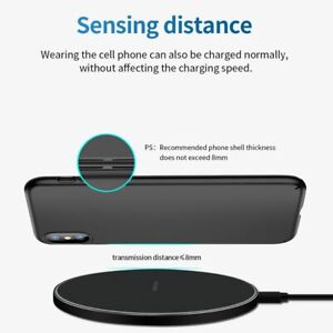 FDGAO 10W Fast Wireless Charger For Samsung Galaxy S10 S20 S9 Note 10 9 USB Qi C