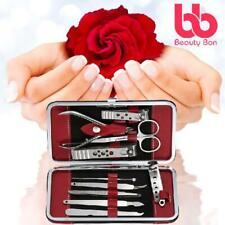 Manicure, Pedicure Kit, Nail Clippers Set Of 10, Stainless Steel Manicure Tools