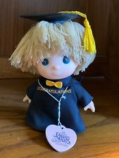 Precious Moments graduate doll black gown and cap 5""