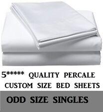 Caravan and Motorhome bed sheets. Custom made FULL SET - ODD SIZE SINGLE beds!
