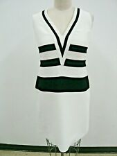 Ralph Lauren Purple Label Collection Black & White Striped Dress Made in Italy 8