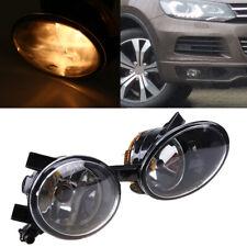 Pair Fog Light Assembly Amber Lamp Bulb 0JONY8 For 2010-2015 VW Touareg