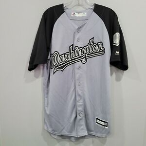 Majestic Limited Edition Washington Nationals Bryce Harper 34 Jersey Mens M Gray