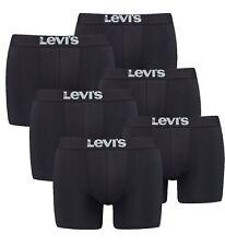 6er Pack Levis Men Solid Basic Boxer Größe S - XXL Jet Black NEU