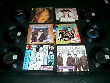 80's Records 45 RPM CULTURE CLUB Lot Of 10 different records / 8 With P/S