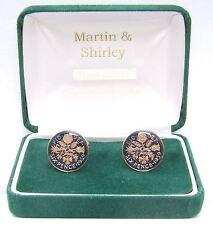 1959 6D gemelli da vere monete in blu e oro