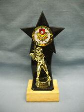 baseball backdrop star black trophy wood base
