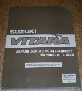 Manual de Taller Suplemento Suzuki Vitara 5T Stand 1993
