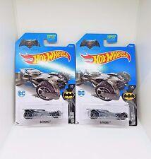 2017 Hot Wheels Batmobile (Batman vs Superman) - No. 237 - Grey - Set of 2