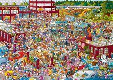 NEW! Heye Flea Market by Schone 2000 piece comic cartoon jigsaw puzzle 29796