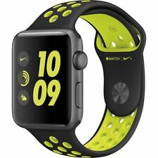 Apple Watch S2 Nike+ 38mm Aluminum Case Black/Volt Sport Band | Brand New