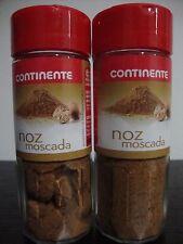 2 BOTTLES OF GROUND NUTMEG FROM PORTUGAL N1 ** 2,25 OZ / 64 GR (overall) **