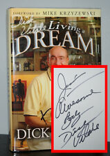 Dick Vitale - Living a Dream - SIGNED 2x 1st 1st - Basketball - NR