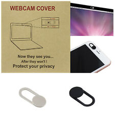 2Pcs WebCam Cover Web Camera Secure Protect your Privacy- Black & Silver