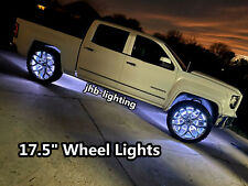 "JHB 17.5"" 4PCS IP68 RGB MultiColor Changing LED Bluetooth Wheel Rim Lights SET"