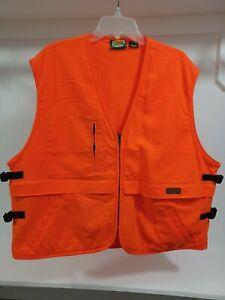 Men's Cabelas Multipocket Fishing/ Hunting Orange Vest Size XL