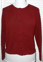 CHRISTOPHER & BANKS Cardigan Sweater size Small/8 Red Long Sleeve Women's