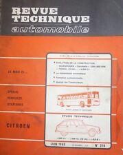 Revue technique CITROEN AMI 8 AMI 6  (35ch ) CAMIONNETTE AKB RTA 278 1969