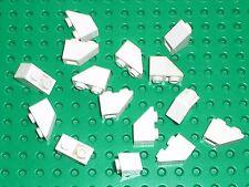 15 x LEGO white Slope Brick 3665 / Set 10214 6390 10041 6276 7754 6932 10189 ...