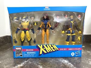 Marvel Legends 80 Years X-Men Wolverine Cyclops Jean Grey 3 pack See Pictures