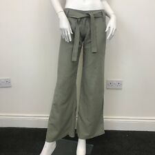 Atmosphere Ladies Khaki Green Loose Flare Bootcut Linen Trousers Pants UK Size 8