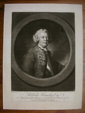 "R. HOUSTON ""PORTRAIT VON WILLIAM KINGSLEY"" NACH JOSHUA REYNOLDS, MEZZOTINT, 1760"