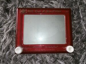 Rare Vintage Ohio At Etch A Sketch magic screen with glittery frame