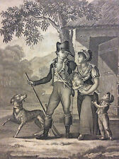 Départ pour la Chasse estampe anonyme CIRCA 1810 A Paris chez Noël