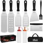 Accessories Kit Gifts for Men Dad, 10Pcs Flat Top Grill Accessories Set for Camp