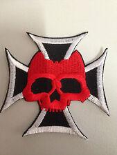 Iron On Patch - Skull Chopper Cross