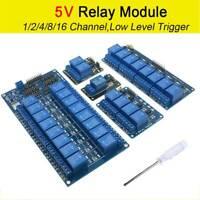 1 2 4 Channel 5V Relay Shield Module Board for Arduino Raspberry Pi ARM Module