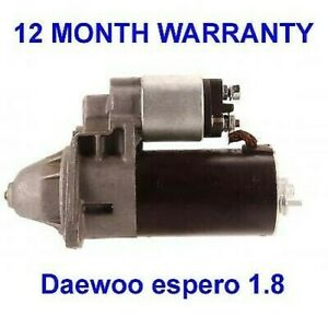 Daewoo espero 1.8 starter motor 1995 1996 1997 1998 1999