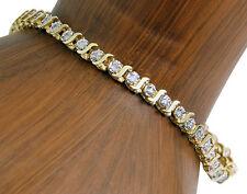 Women's 4.0 mm Diamond Tennis Bracelet 1.0 ct I/I1 in 10k Solid Yellow Gold