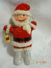 """Antique 1940's German Paper mache ,felt Santa ornament stamped .Excellent ! 6"""""""